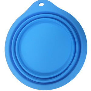 Silicone folding round pet bowl