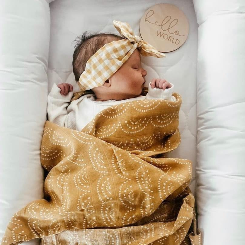 Organic Cotton + Bamboo Muslin Swaddle - SUNSET