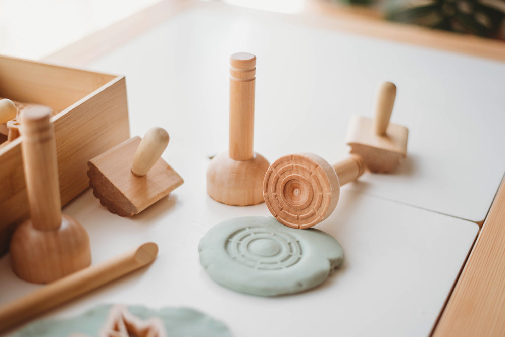 Wooden Play Dough Stamps