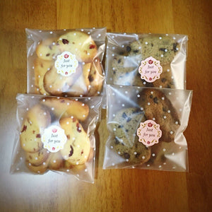 Happyhiram Clear Cookies Bag 100 PCS