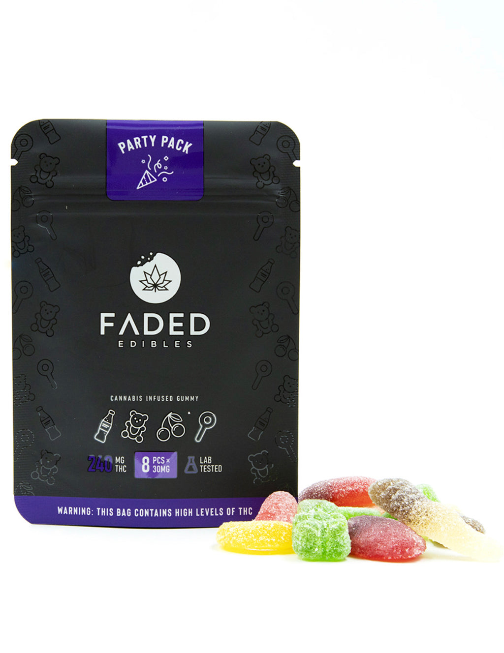 240mg THC Faded Edibles Party Pack