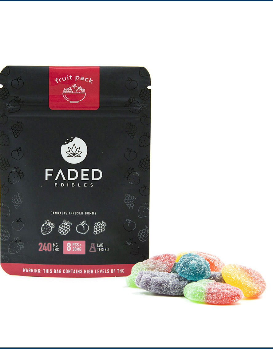 240mg THC Faded Edibles Fruit Pack