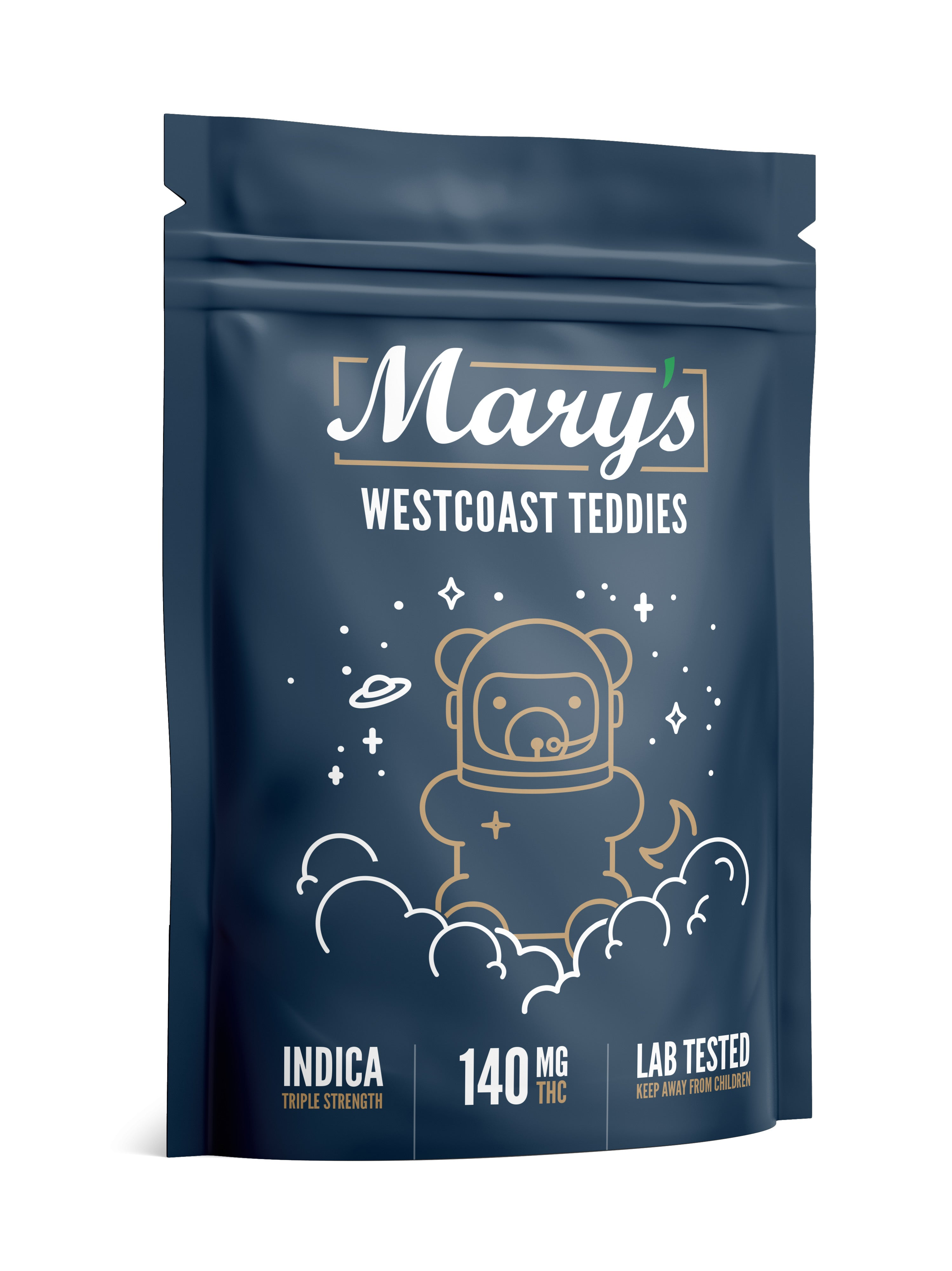 Triple Strength Indica West Coast Teddies 140mg THC (Mary's Medibles)