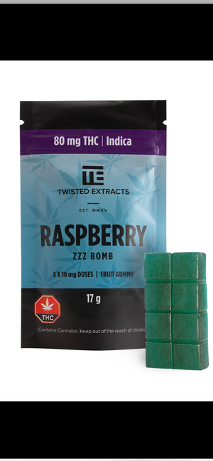 Twisted Extracts Blue Raspberry Jelly Bomb (80mg THC) at The Kush Dispensary