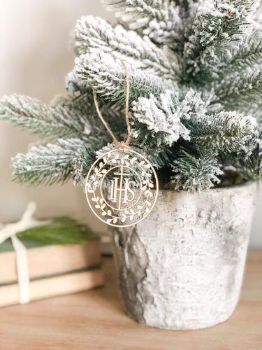 IHS Wreath Ornament - Grande or Petite