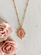 Load image into Gallery viewer, Lady Lourdes Necklace- Salmon