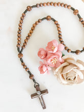 Load image into Gallery viewer, Little French Rosary - Dark Wood