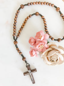 Little French Rosary - Dark Wood