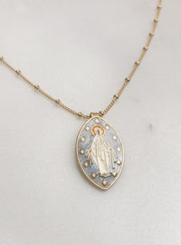 Oval Miraculous Medal Necklace