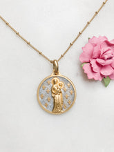 Load image into Gallery viewer, Virgin of The Lilies Necklace - Light Blue