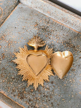 Load image into Gallery viewer, Vintage Sacred Heart Medallion Open Heart