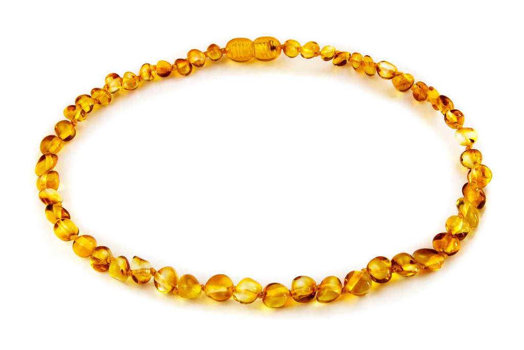 Amber Teething Necklace in Honey Color by Amber Guru Handmade in Lithuania