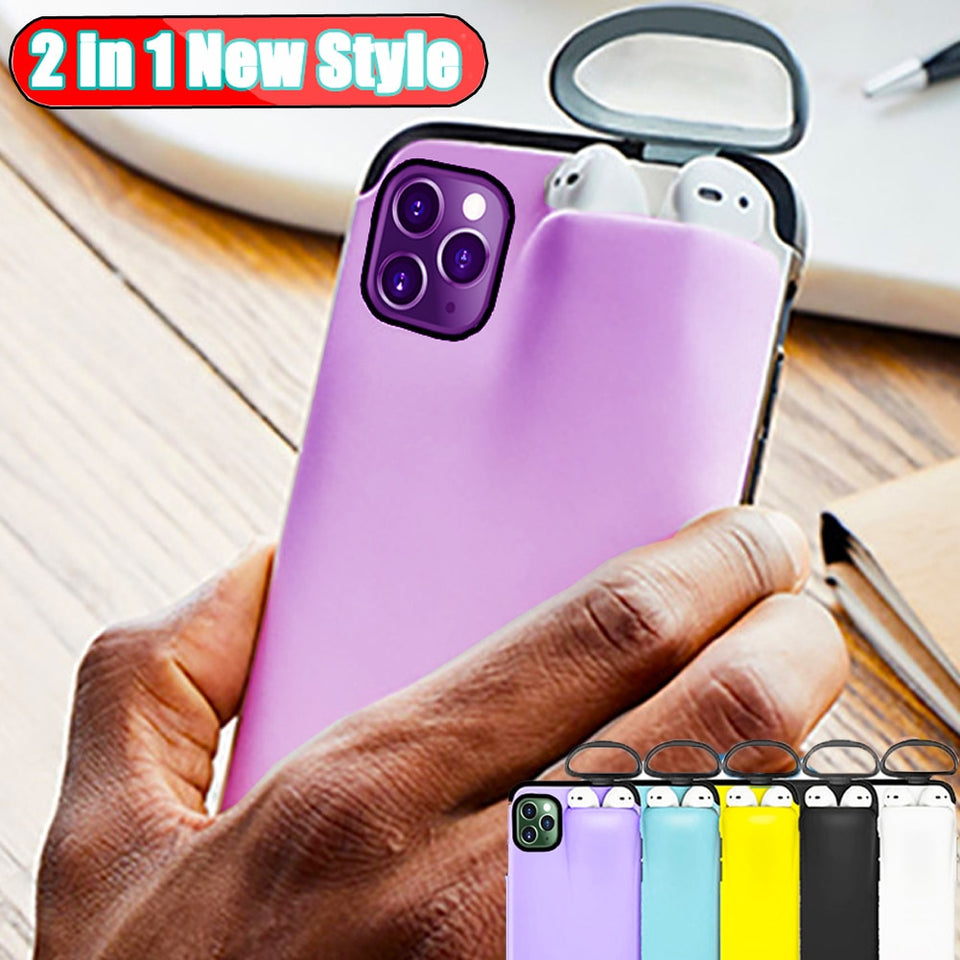 iPhone Case Cover with AirPods