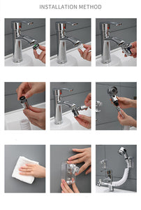 Wash Face Sink External Faucet Flexible Nozzle Sprinkler Kit Regular