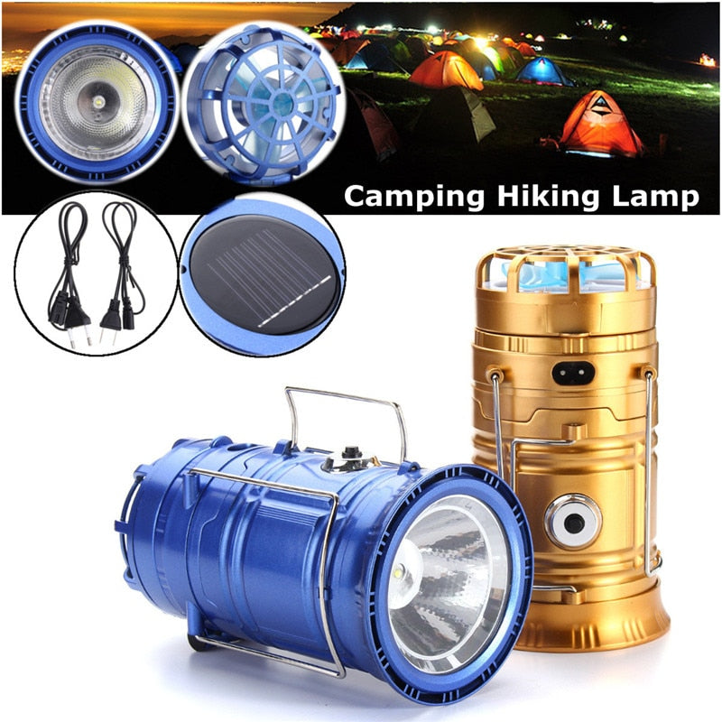 Solar Camping Light With Fan