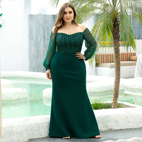 Plus Size Mermaid Prom Dress (Sizes 4-20)