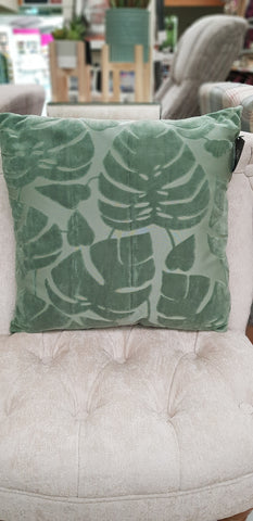 Cushion  embossed leaf 45 x 45cm £25.98 for 2