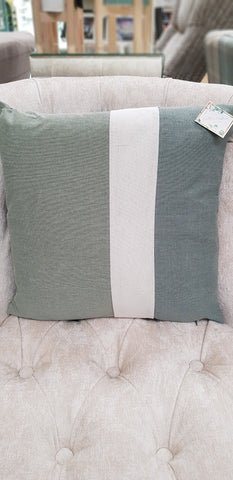 Cushion 3 panel green 40 x 40cm 2 for £19.98