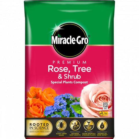 Miracle Gro Premium Rose, Tree and Shrub Compost 40L