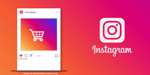 A header with the Instagram logo.