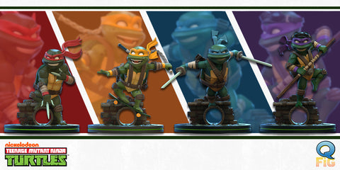 TMNT Revealed - Check Out All Four New Turtle Q-Figs!