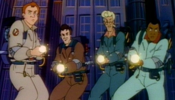 Ray, Peter, Egon and Winston in The Real Ghostbusters (image via The Supernaughts)