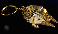 Gold Millennium Falcon Key Chain