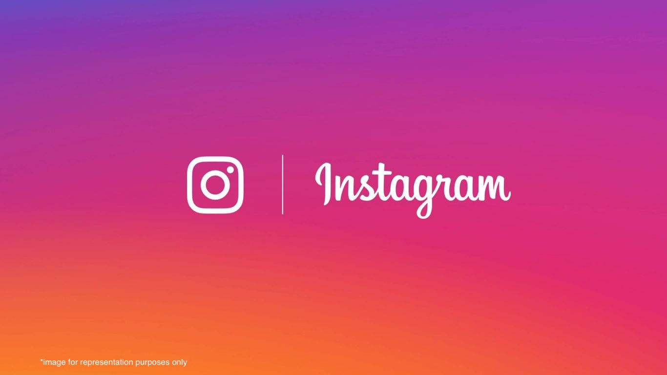 An image header with the Instagram logo.