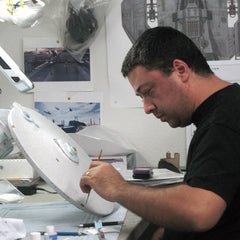 John paints an Enterprise Refit