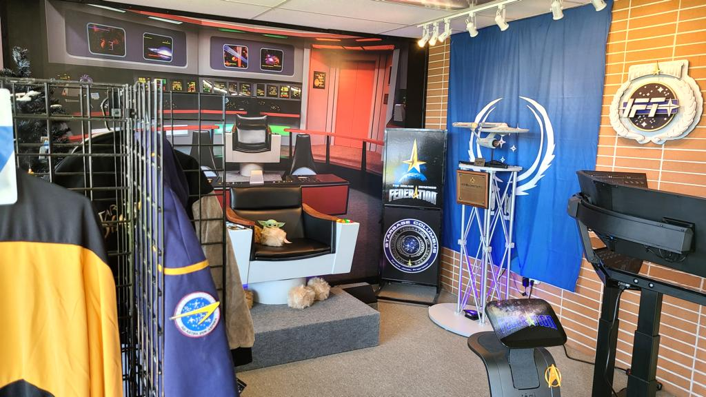 An interesting room with various collectibles from Star Trek.