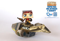 Captain Mal & Serenity Paper Figs