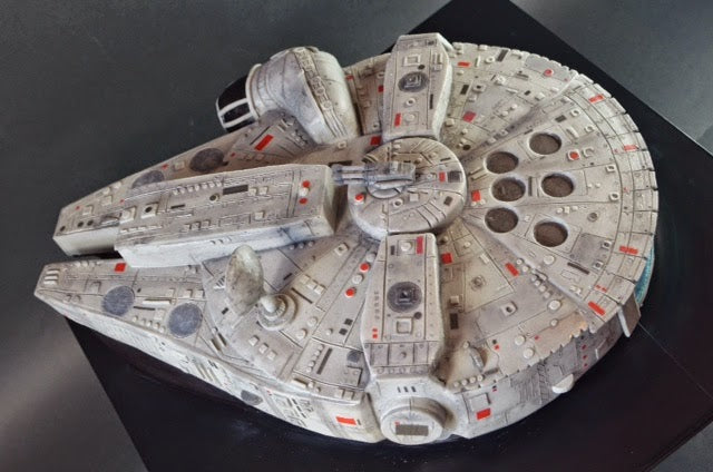 Star Wars Millennium Falcon Cake by Cup a Dee Cakes, via Boing Boing