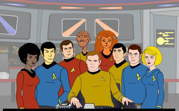 The crew of the USS Enterprise in Star Trek: The Animated Series (image via GeekTyrant)