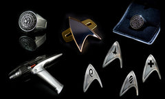Star Trek prop replicas (not to scale)