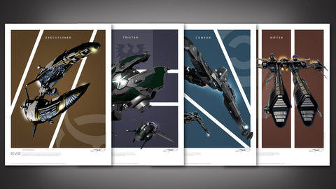 Photo of EVE Online Frigates Art Print Set - Series 2