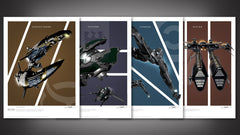 Thumbnail of EVE Online Frigates Art Print Set - Series 2