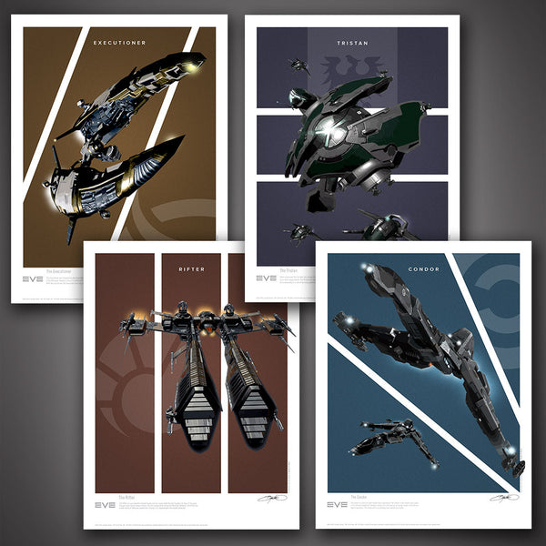 EVE Online Frigates Art Print Set - Series 2