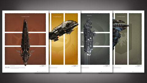 Photo of EVE Online Battlecruisers Art Print Set - Series 1