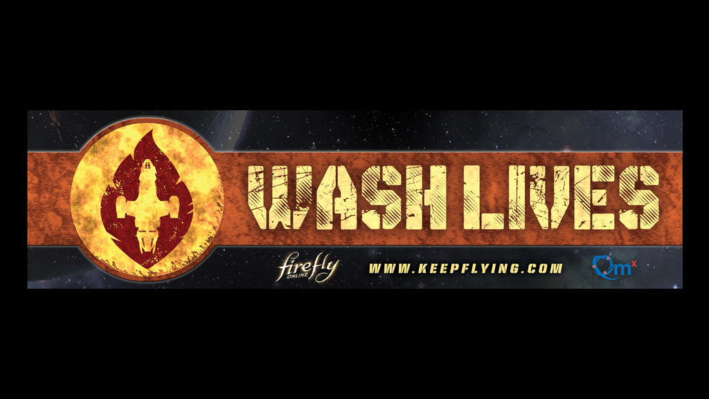 Firefly Online Wash Lives Bumper Sticker