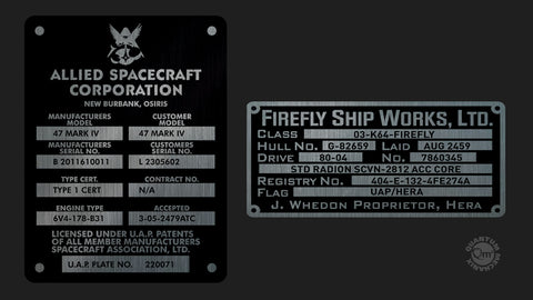 Photo of Firefly Builder's Plaques Metalized Sticker Set