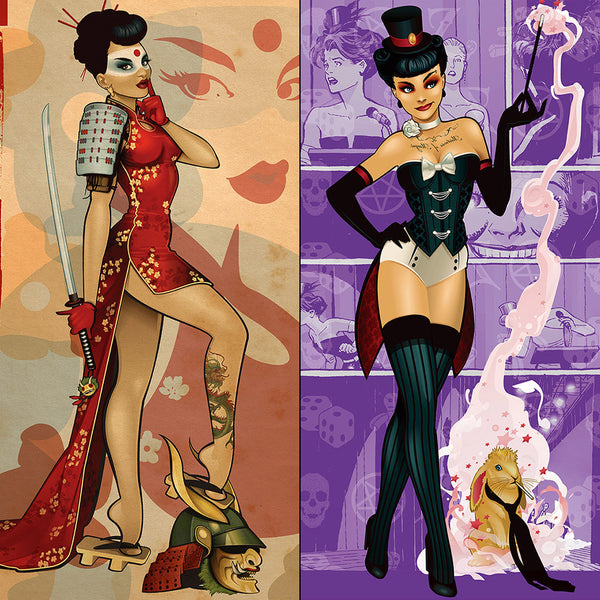 DC Bombshells Deadly Ladies Art Print Set