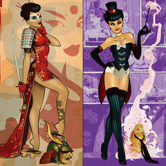 Photo of DC Bombshells Deadly Ladies Art Print Set