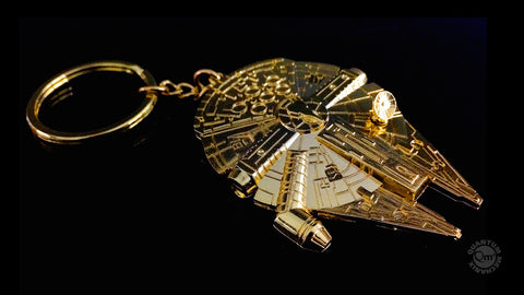 Photo of Star Wars Gold Millennium Falcon Replica Key Chain