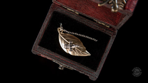 Photo of 14K Gold / Sterling Silver Leaf on the Wind Pendant