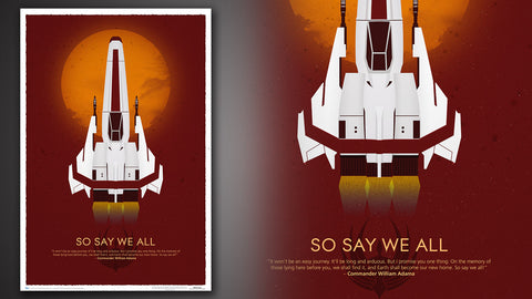 Photo of Battlestar Galactica 10th Anniversary Art Print