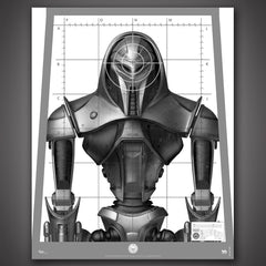 Photo of Cylon Centurion Target Poster Replica