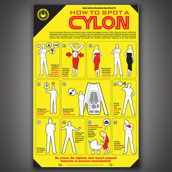 How To Spot a Cylon Poster