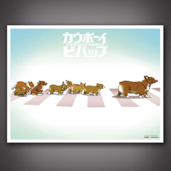 Photo of Cowboy Bebop Corgi Parade Art Print