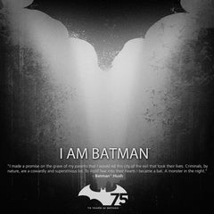 Thumbnail of Batman 75th Anniversary Art Print