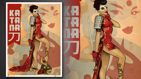 Photo of DC Bombshells Katana Art Print